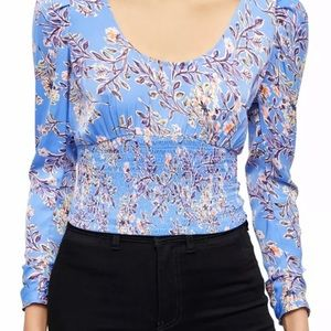 NWT FREE PEOPLE Bluebell Combo Scoop Neck Top